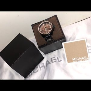 Michael Kors Watch With Rose Gold Swarovski